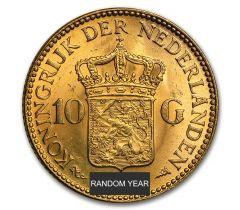 10 nederlandse gulden - gouden tientje