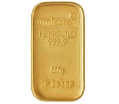 Gold bar 500 grams - Umicore