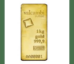 Gold bar 1 kilogram - Valcambi