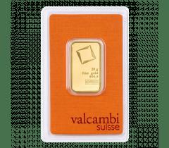 Gold bar 20 grams - Valcambi