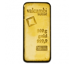 Gold bar 500 grams - Valcambi