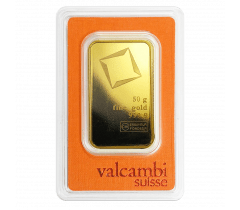 Lingot d'or 50 grammes - Valcambi