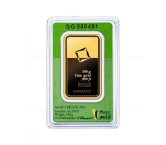 Gold bar 100 grams - Valcambi Green Gold
