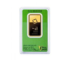 Goudbaar 1 troy ounce - Valcambi Green Gold