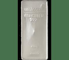 Silver bar 1 kilogram - Umicore - Limited offer