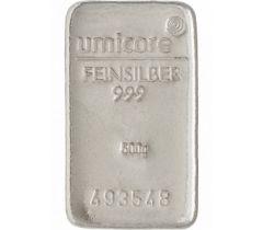 Zilverbaar 500 gram - Umicore